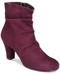 Aerosoles Good Role Slouchy Booties Women's Shoes Wine Fabric