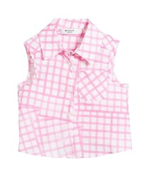 Milly Minis Tie Back Sleeveless Check Blouse Size 8 14 Pink