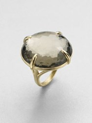 Ippolita 18K Yellow Gold Pyrite Doublet Cocktail Ring Gold Green