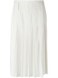 Forte Forte Frayed Hem Pleated Skirt Nude And Neutrals