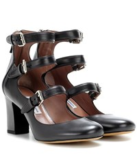 Tabitha Simmons Ginger Leather Pumps Black