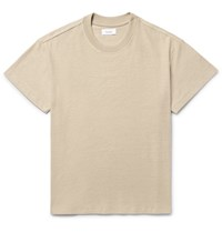 Fanmail Slub Hemp And Organic Cotton Blend T Shirt Beige