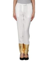 Hotel Particulier Casual Pants White