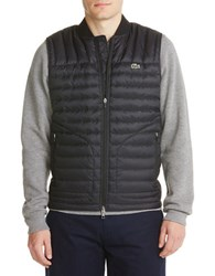 Lacoste Sleeveless Quilted Vest Black