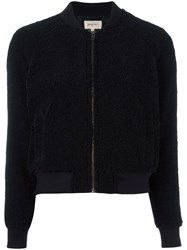 Bellerose Zipped Bomber Jacket Black