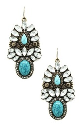 Eye Candy Los Angeles Teal My Ear Earrings Blue