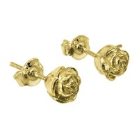 Dower And Hall 18Ct Gold Vermeil Medium Rosebud Stud Earrings Gold