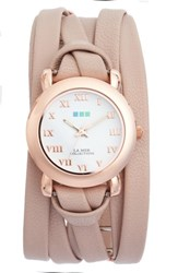 La Mer 'S Collections Saturn Double Wrap Watch 25Mm Nude