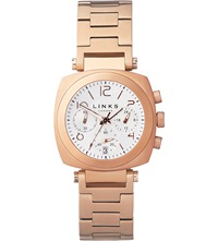 Links Of London Brompton Rose Gold Plated Chronograph Watch