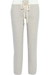 Monrow Woman Lace Up French Terry Track Pants Ivory
