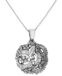 Effy Collection Classique By Effy Diamond Swirl Pendant 1 1 2 Ct. T.W. In 14K White Gold