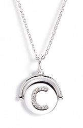 Lulu Dk Women's Love Letters Initial Spinning Pendant Necklace Silver C