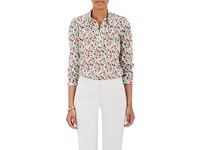 Barneys New York Women's Floral Pleated Cotton Shirt No Color