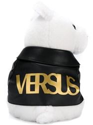Versus Teddy Bear Backpack White