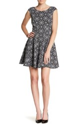 Betsey Johnson Printed Fit And Flare Dress Multi