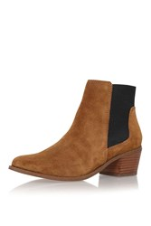 Spider Tan Low Heel Ankle Boot By Miss Kg
