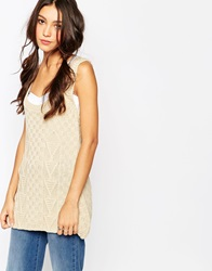 Daisy Street Knitted Tank Tunic Cream