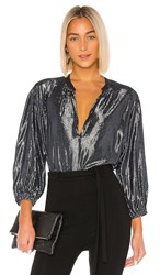 Velvet By Graham And Spencer Linette Blouse In Navy. Graphite