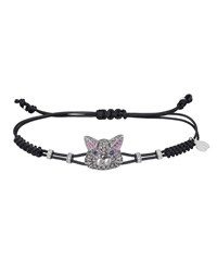 Pippo Perez 18K White Gold Diamond And Sapphire Cat Pull Cord Bracelet