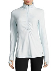 New Balance Half Zip Thumbhole Active Top Light Blue
