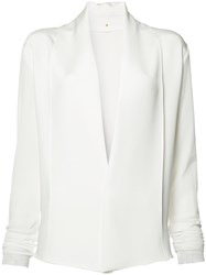 Peter Cohen V Neck Blouse White