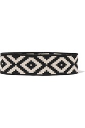Vanessa Seward Fajas Woven Cotton Belt Black