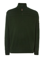 Oscar Jacobson Orson Lined Half Zip Jumper Green