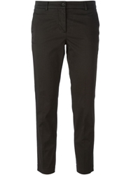 Alberto Biani Cropped Chino Trousers Black