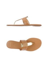 Aerin Thong Sandals Camel