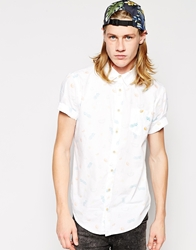 Pull And Bear Pullandbear Short Sleeve Shirt With Fruit Print White
