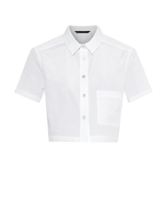 Marc By Marc Jacobs Stretch Cotton Cropped Shirt