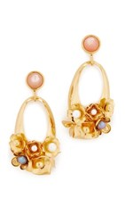 Lizzie Fortunato Cherry Blossom Earrings Gold Rose