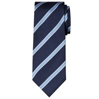 John Lewis Regimental Stripe Tie Navy Blue