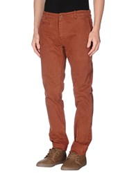 Original Vintage Style Trousers Casual Trousers Men Brick Red