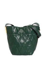 Givenchy Mini Gv Quilted Leather Bucket Bag Green