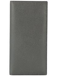 Valextra Long Billfold Wallet Women Calf Leather One Size Grey