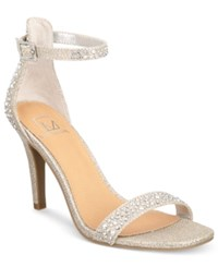 Material Girl Blaire Two Piece Sandals Only At Macy's Women's Shoes Silver