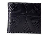 Marni Flower Embossed Leather Bifold Navy