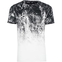 River Island Mensbig And Tall White Glitch Fade T Shirt