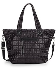 Saks Fifth Avenue Quilted Nylon Tote Black