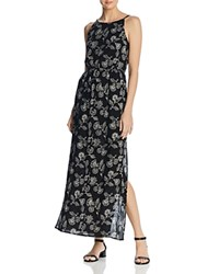 Aqua Floral Print Maxi Dress 100 Exclusive Black White