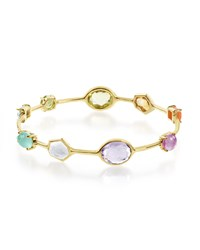 Ippolita 18K Gold Rock Candy Multi Stone Bangle In Summer Rainbow