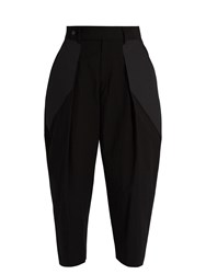 Issey Miyake Pleated Front Cropped Trousers Black