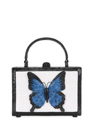 Nancy Gonzalez Butterfly Box Crocodile Top Handle Bag