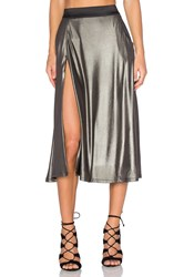 Zhivago Espionage Skirt Metallic Silver