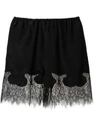 Mcq By Alexander Mcqueen Lace Trim Shorts Black