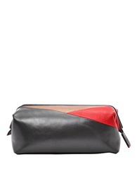 Fossil Colorblocked Leather Dopp Kit Grey