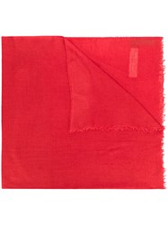 Rick Owens Oversized Scarf Red