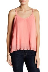 14Th And Union Nova Chiffon Pleated Cami Petite Pink