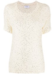 Snobby Sheep Sequin Embroidered Top White